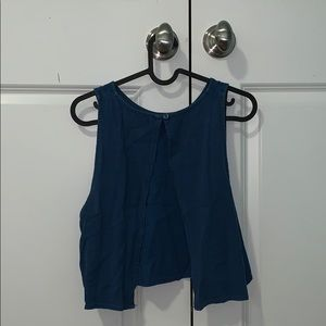 Urban Outfitters Blue Open Backed Tank Top